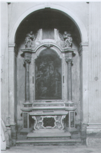 Chiesa S.Vito Modesto e Crescenzia – Altare laterale destro con pala del Farinati