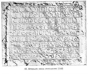 epigrafe della fondazione stra